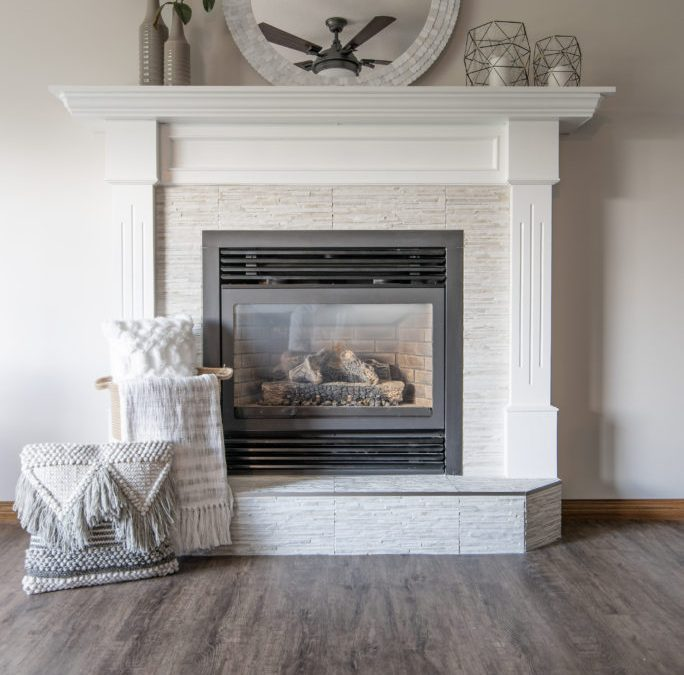 interior design of fireplace